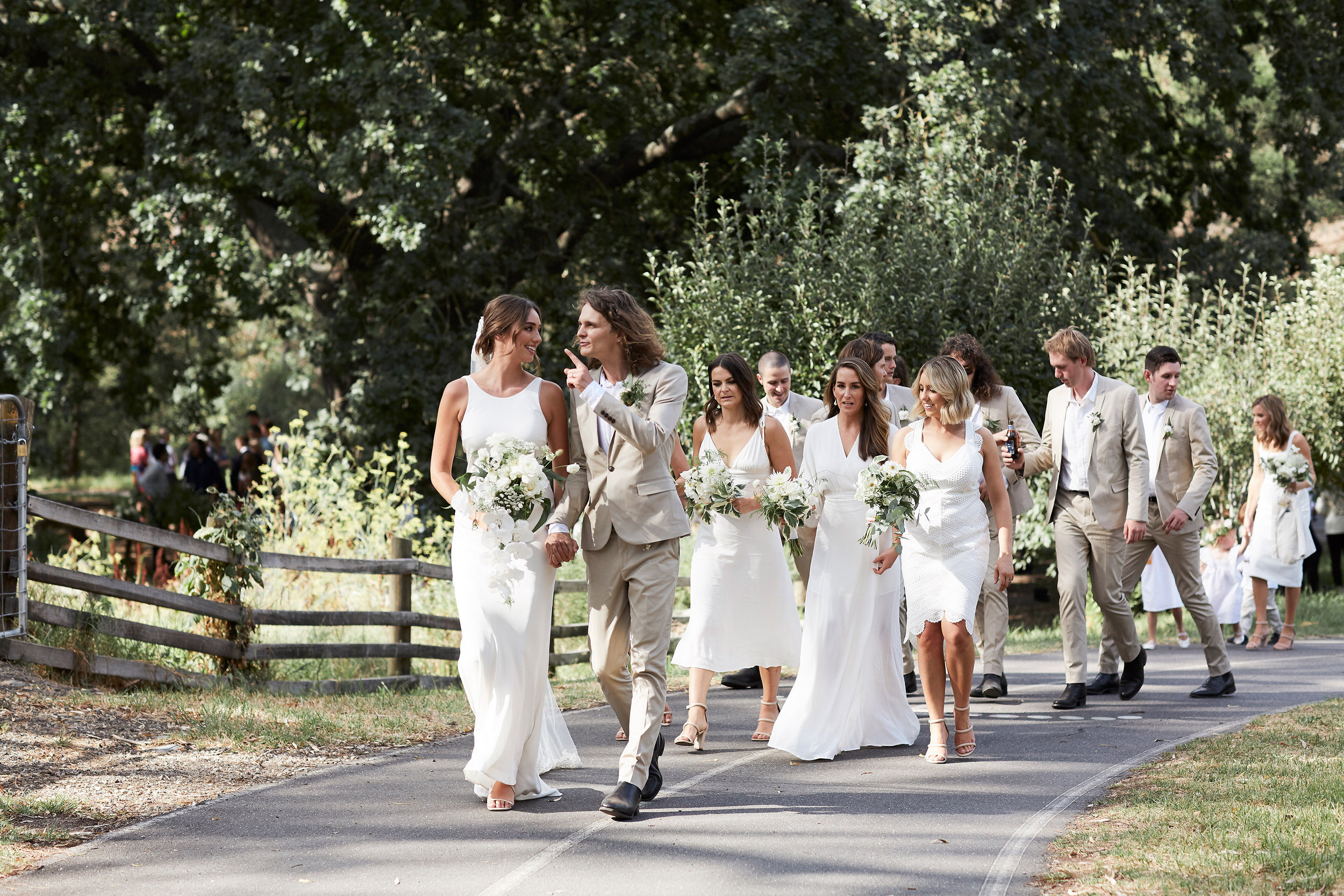 Pip & Stu's Wedding featuring a Fiona Clare wedding dress | Love Find Co. Bridal Directory