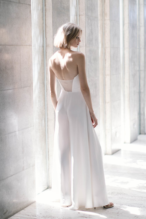 O'Connor Bridal Jumpsuit by Dan Jones | 10 Wedding Day Looks for the Non-Traditional Bride | LOVE FIND CO.