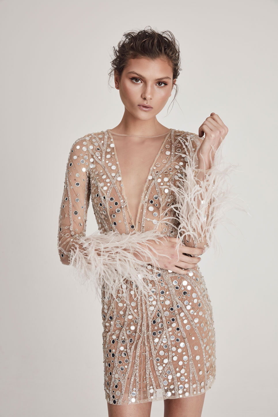 Darcy Sequin Party Short Dress by Chosen | 10 Wedding Day Looks for the Non-Traditional Bride | LOVE FIND CO.
