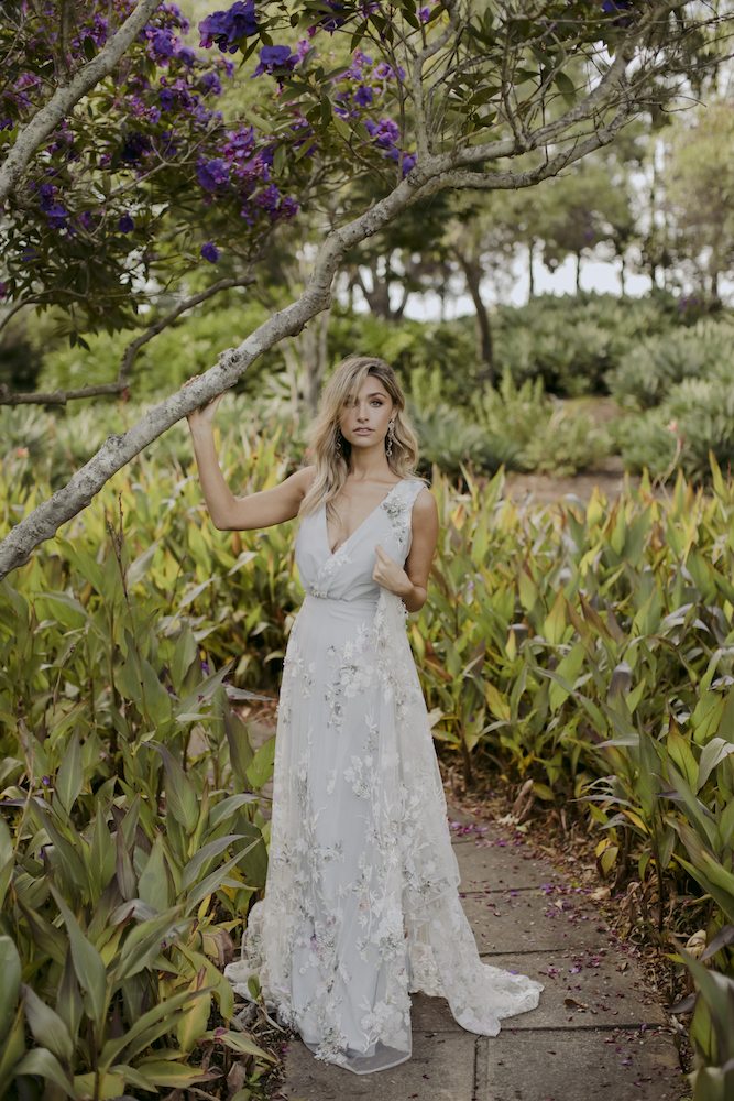 Coloured wedding dress by Kate McDonald | 10 Wedding Day Looks for the Non-Traditional Bride | LOVE FIND CO.