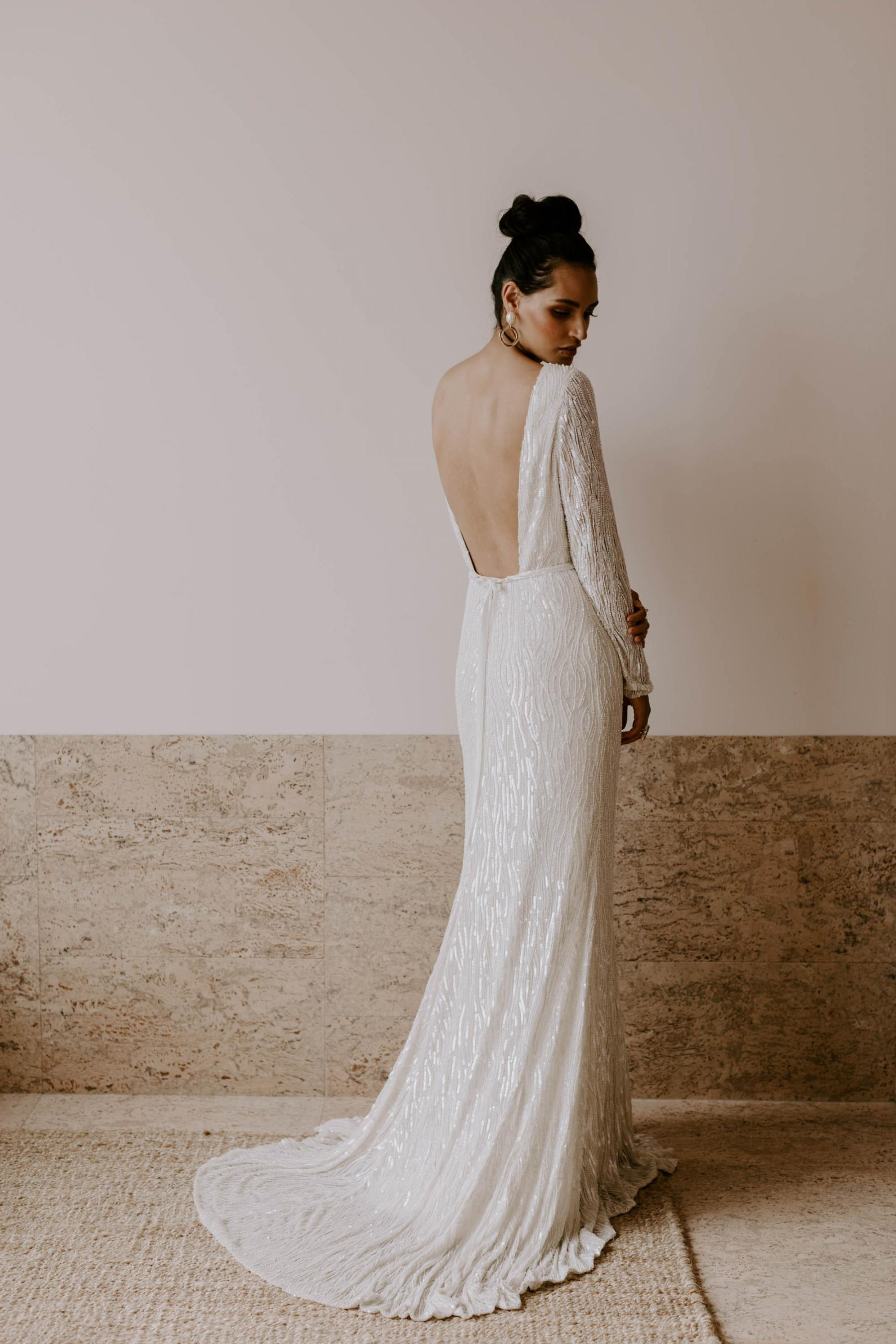 Sequin Wedding Dress by KAREN WILLIS HOLMES | 10 wedding dresses for the non-traditional bride | LOVE FIND CO.
