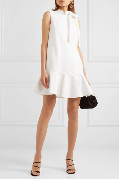 Valentino bow detailed ruffled mini dress | 10 Wedding day looks for the non-traditional bride | LOVE FIND CO.
