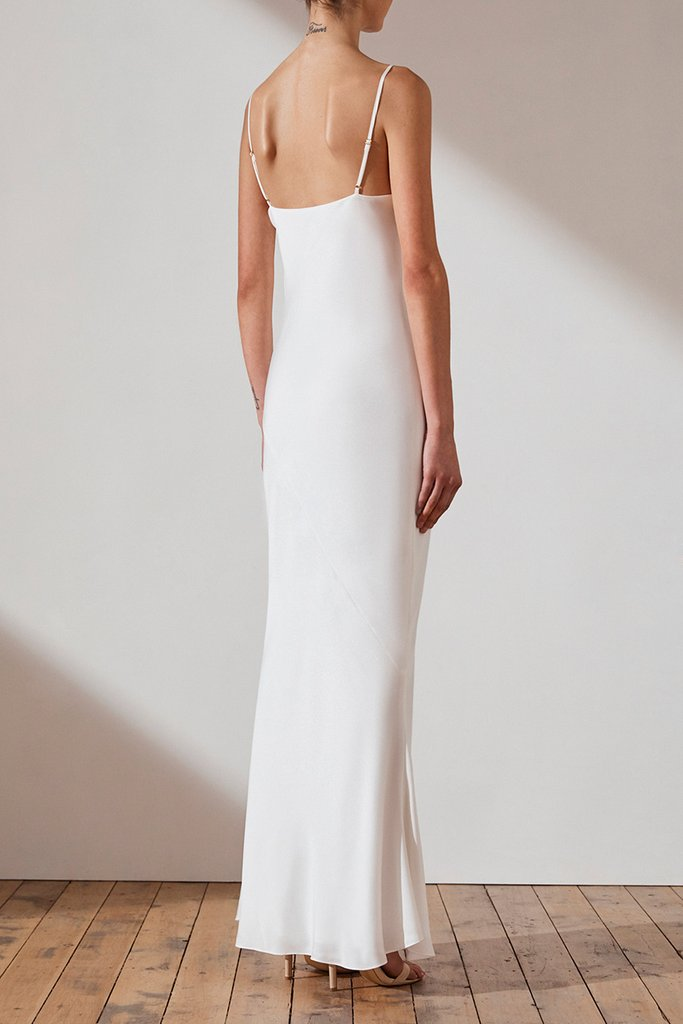 SHONA JOY - Luxe bias cowl slip dress | 12 Bridal Gowns You Can Buy For Under $1,000 | LOVE FIND CO. Bridal Dress Directory