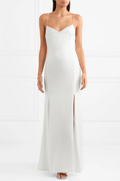RIME ARODAKY Mara crepe de chine gown | 12 Bridal Gowns You Can Buy For Under $1,000 | LOVE FIND CO. Bridal Dress Directory