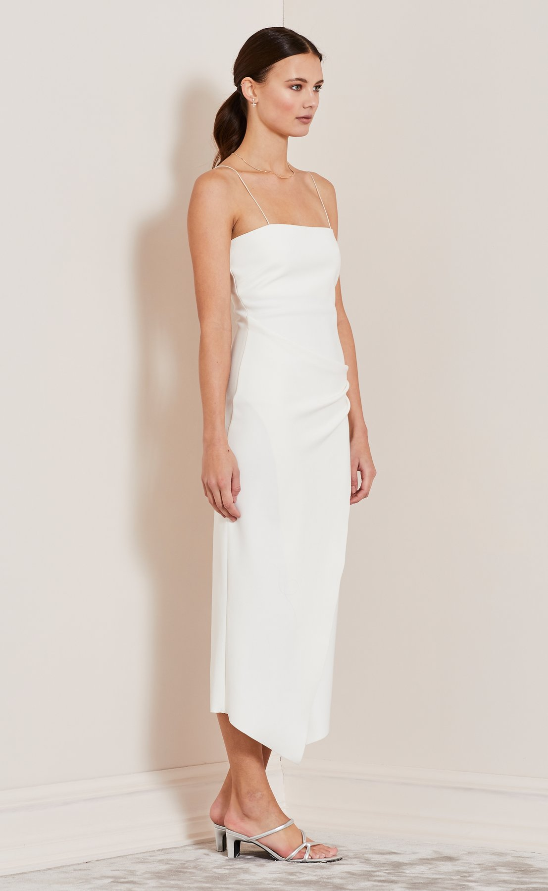 BEC & BRIDGE Be Mine Fixed Wrap Dress | 12 Bridal Gowns You Can Buy For Under $1,000 | LOVE FIND CO. Bridal Dress Directory