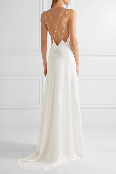 MICHAEL LO SORDO Alexandra Silk Satin Gown | Bridal Dresses under $2,000 | LOVE FIND CO. Bridal Dress Directory
