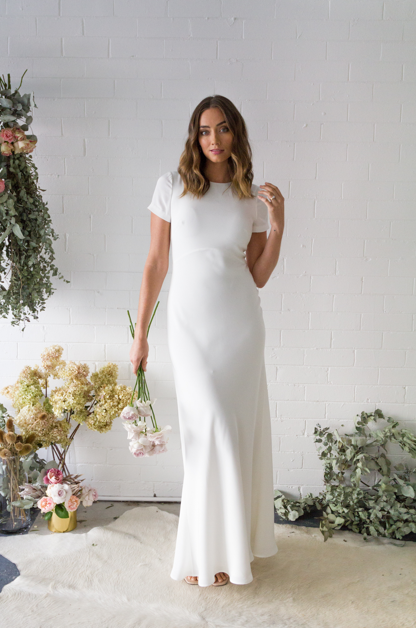 FIONA CLAIRE Tee Slip Wedding Dress | Wedding Dresses under $3,000 | LOVE FIND CO. Bridal Dress Directory
