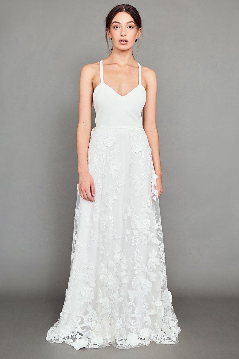 WHITE MEADOW BRIDAL Sunset Love wedding dress | Wedding Dresses under $5,000 | LOVE FIND CO. Bridal Dress Directory