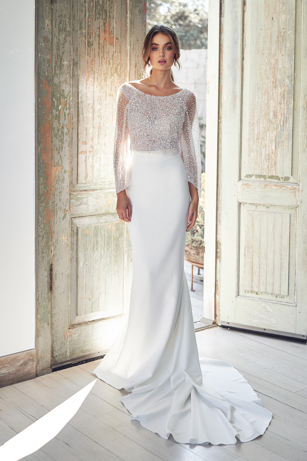 Bridget Topper with Darcy Skirt | Anna Campbell Lumiere Collection | LOVE FIND CO. Bridal Directory
