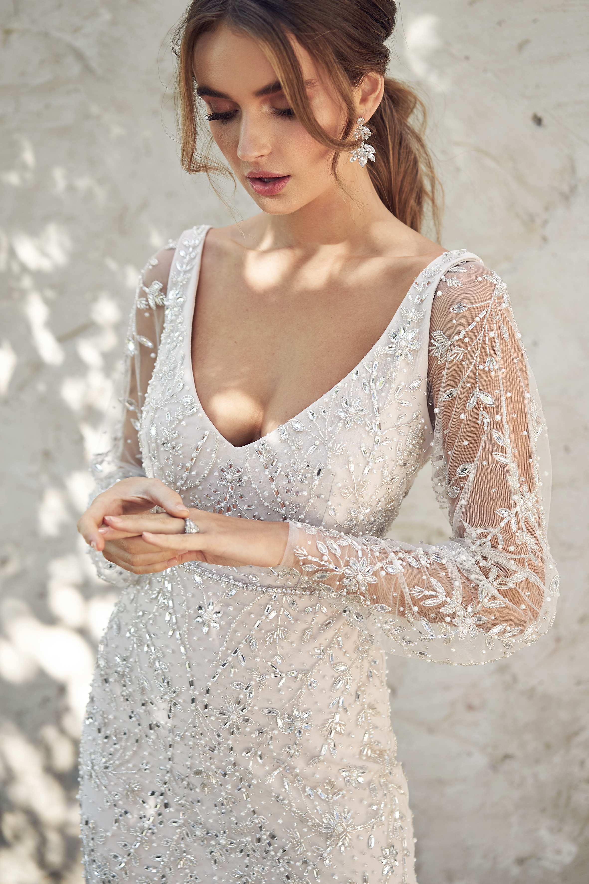 Anna Campbell Indigo Fitted Dress | Wedding Dress under $7,500 | LOVE FIND CO. Bridal Directory