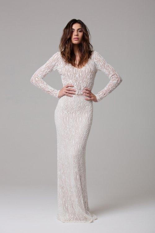 Ivie White Bridal Sephora Bodysuit & Reine Skirt | Wedding dresses under $7,500 | LOVE FIND CO. Bridal Directory