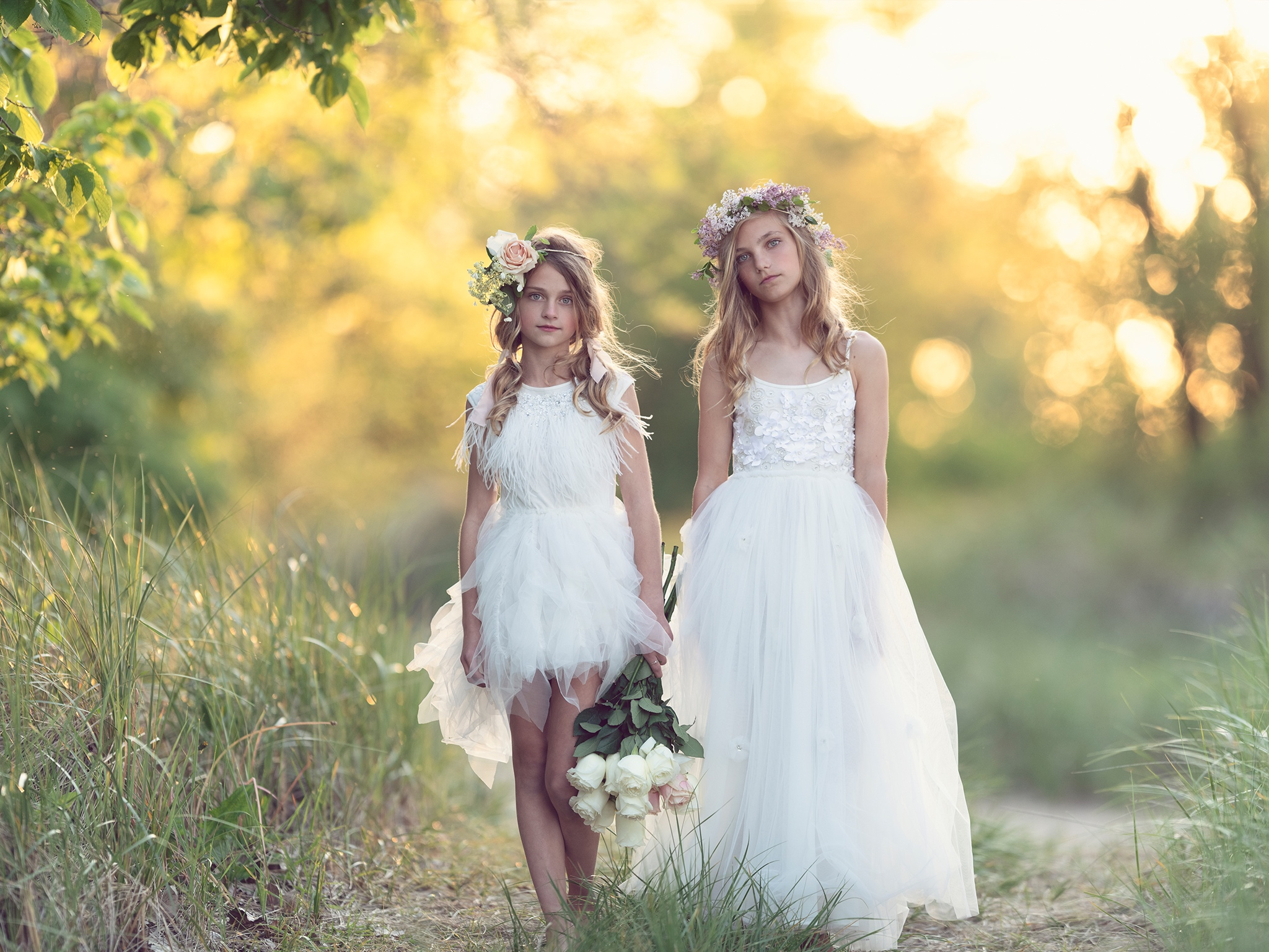 Flower girl dresses by Tutu Du Monde featured on LOVE FIND CO. Bridal Directory