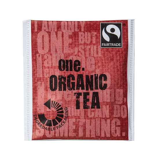 This outstanding blended tea is certified organic as well as Fairtrade, making for a truly guilt free cuppa. The packaging for this product is made with an degradable film that enables it to breakdown under certain landfill conditions faster than standard packaging films.