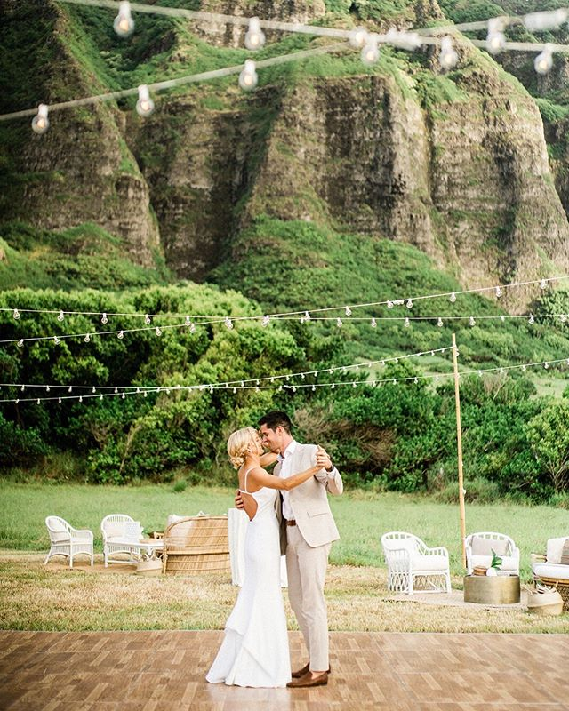 Wedding Day | This is one of those moments that you will never forget... and neither will anyone else. | Lighting + Dance Floor @accelrentals | Lounge Furniture @roamrentalshawaii |Venue @kualoaranch @kualoaranchweddings | Photo @stewartandconnie |