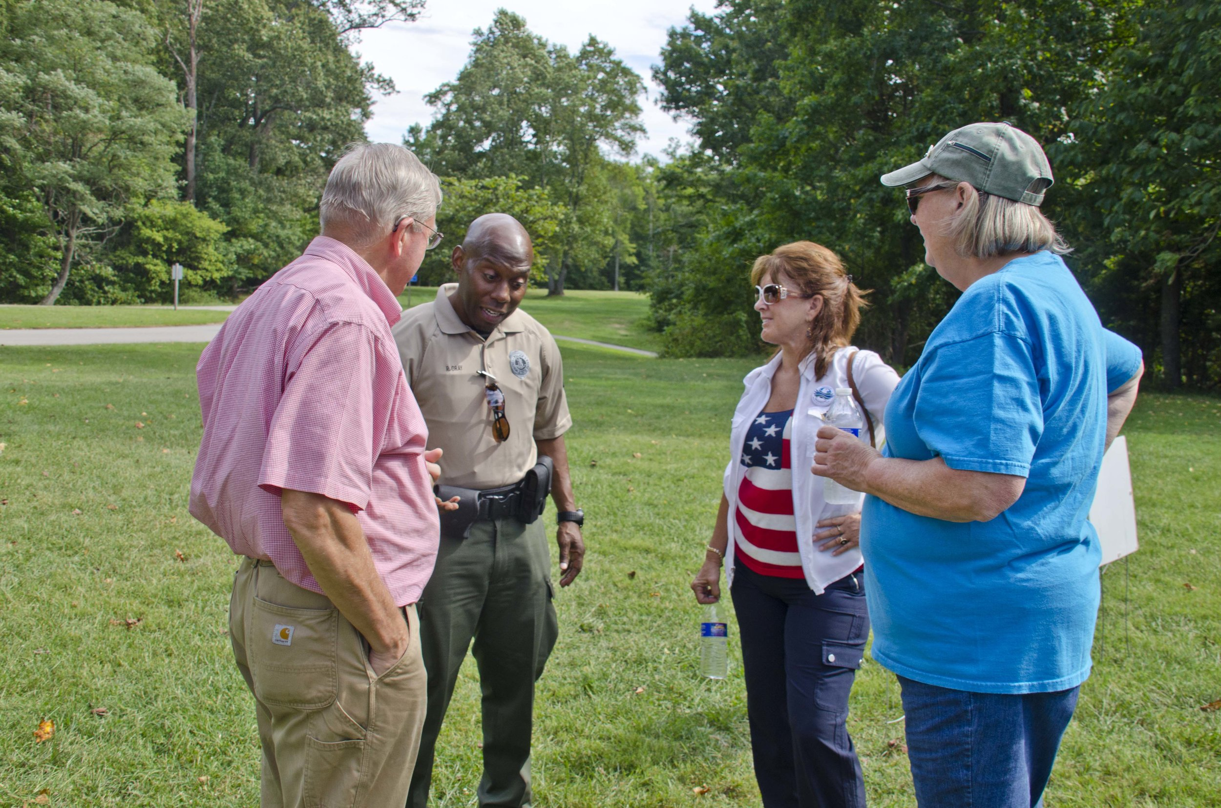 Firends of Mason Neck State Park and Reinhardt Gray at the Audubon - Friends Meeting - Photo by Tom Blackburn