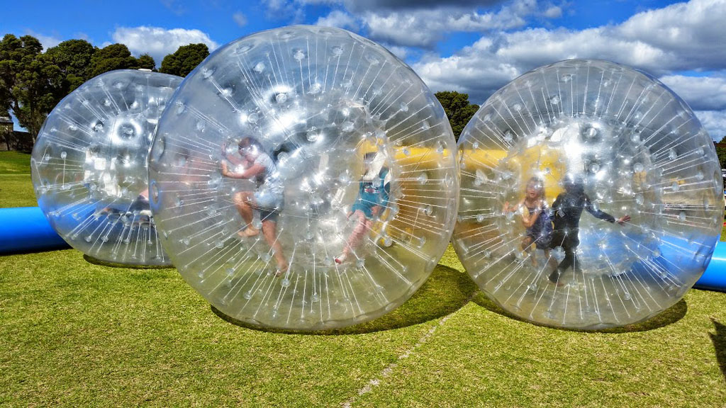 Bumper Bubbles - We will have two Zorb Balls (2) with Track permitting control for players who want to test their endurance and power.Compete with your friends and family and see who's stronger!