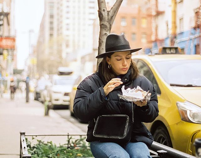 We spent the other weekend eating and drinking our way around NYC for Hannah's Bday, and we got all the vibes. The first pic is definitely my favorite from the whole trip. Scarfing down a bagel and lox on the side of the street because we had to eat them fresh. ❤️ @hannah.tutera #cinestill50d