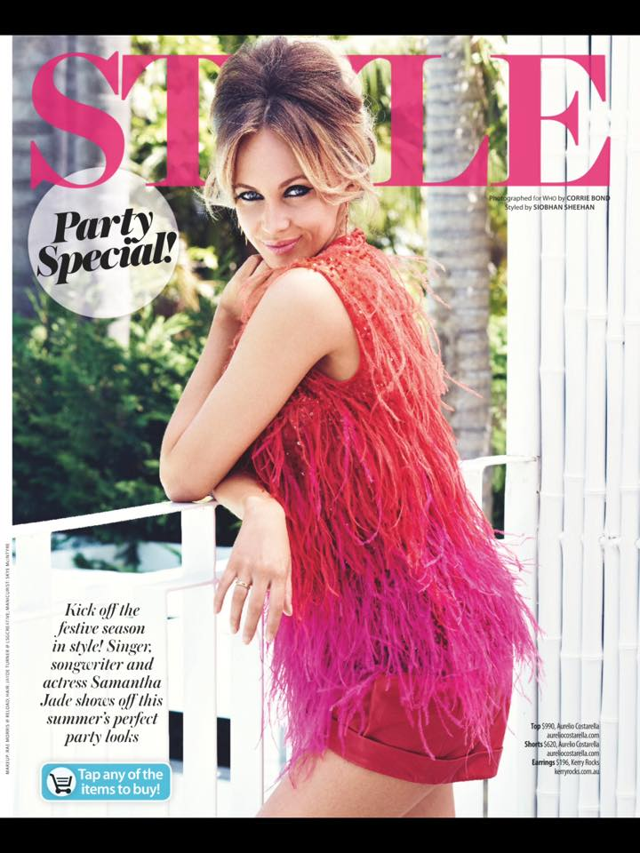 Skye made sure Samantha Jade's nails absolutely rocked it in a party spread for WHO Magazine