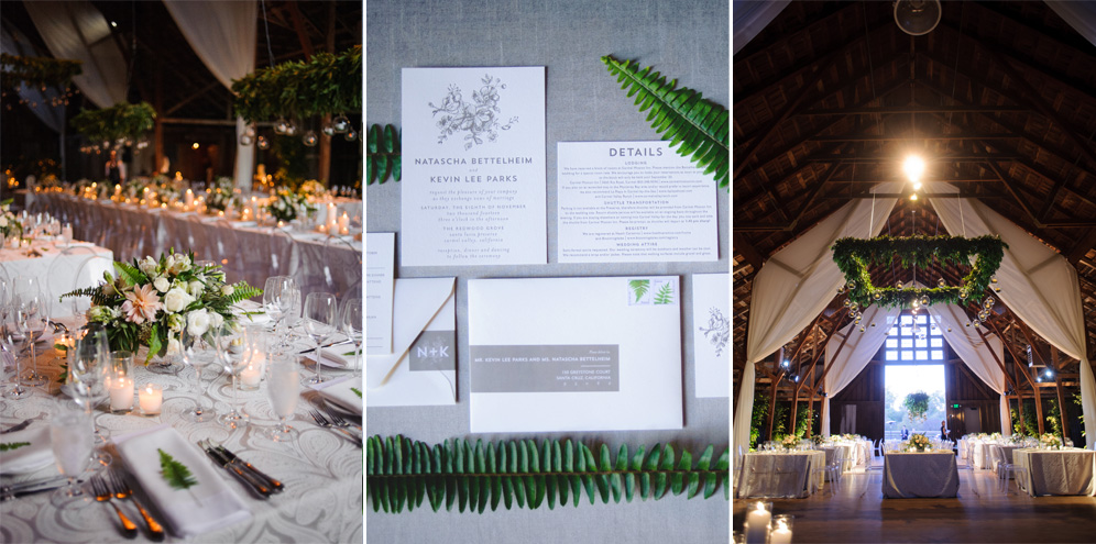 Rebecca Reategui Weddings // Ranch Chic // Photography by BellaLu // Gray // Ferns // Barn