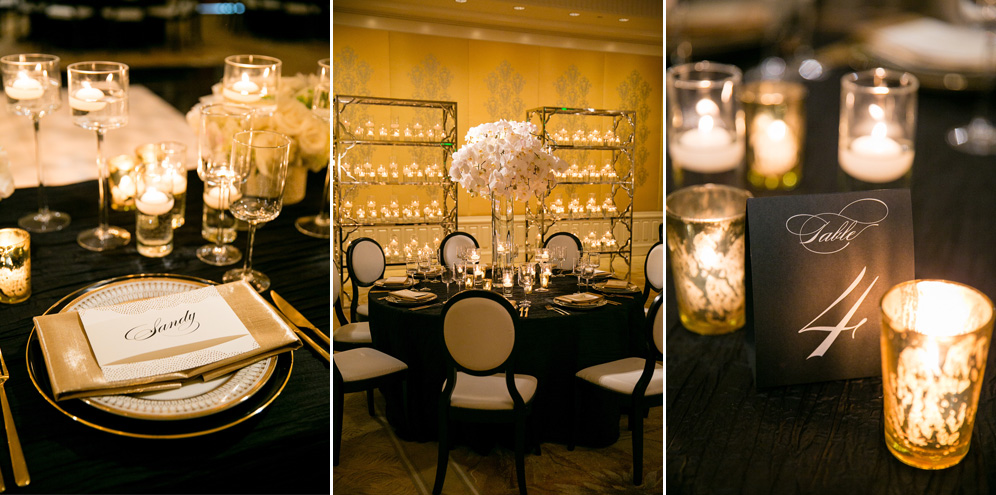 Rebecca Reategui Weddings // Sleek Sophistication // Larissa Cleveland Photography // Rosewood Sand Hill Menlo Park // Michael Daigan Design // Gold // Phaelanopsis Orchids