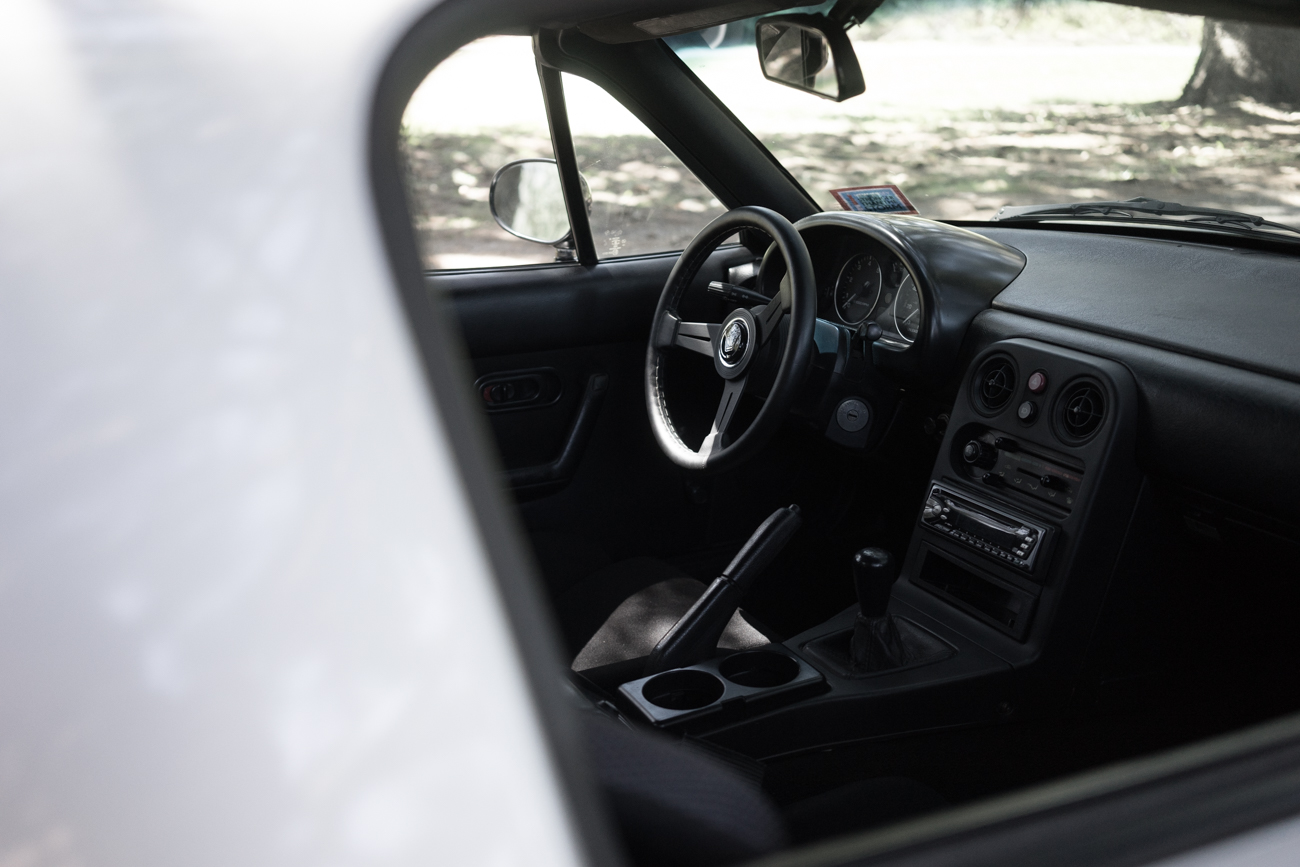 monochrome and minimalistic interior ( with exception to the ugly aftermarket radio, sorry I did have plans to replace it with an OEM unit soon!)