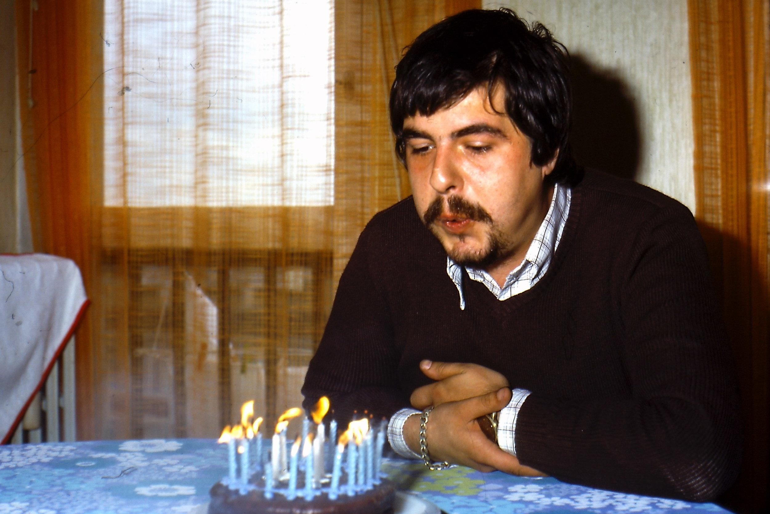 Dad Celebrating His 24th Birthday   1978