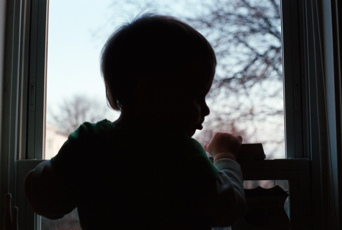 Baby playing with the Window  |  Frame 6