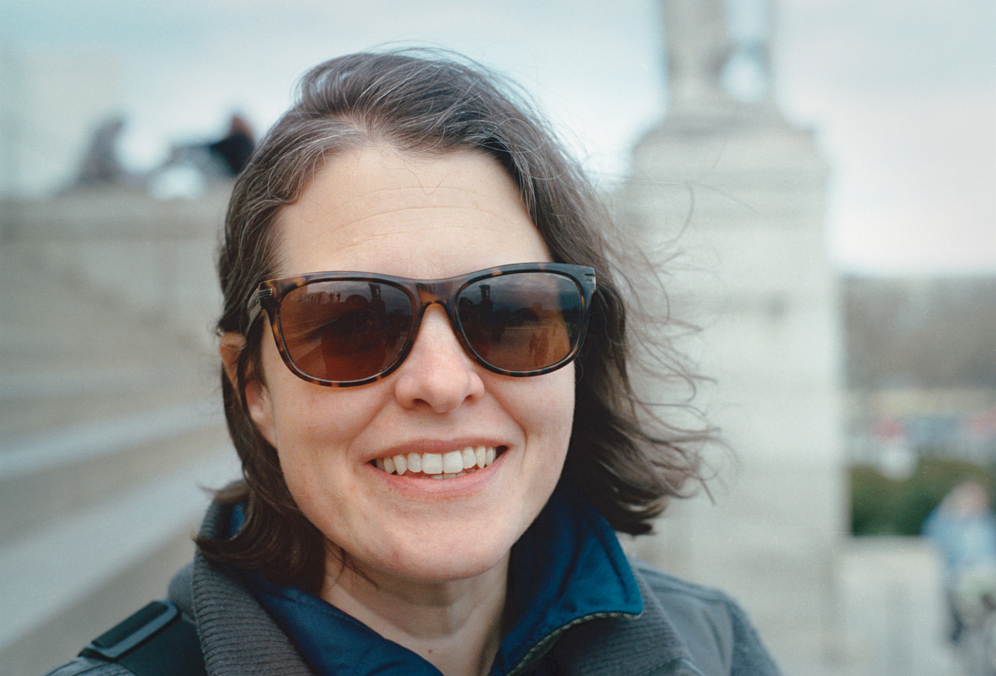 Kat at the Lincoln Memorial  |  Frame 24