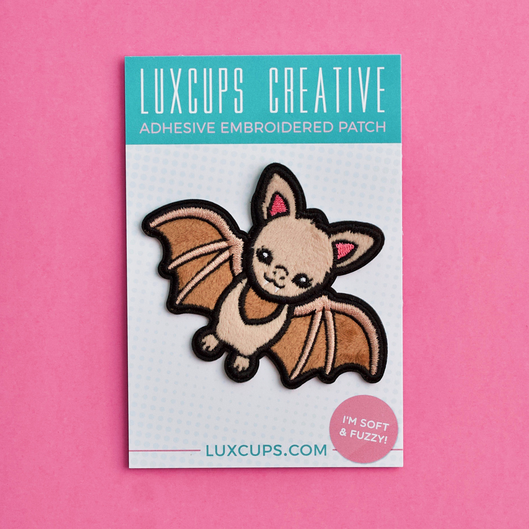 BROWN BAT ENAMEL PIN BY LUXCUPS CREATIVE