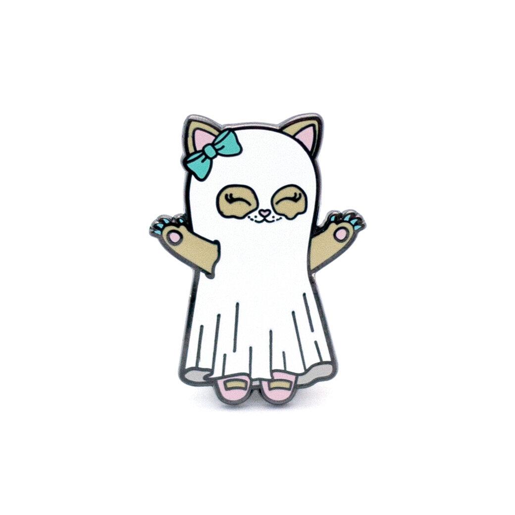 P2 - Ghost Kitty Pin