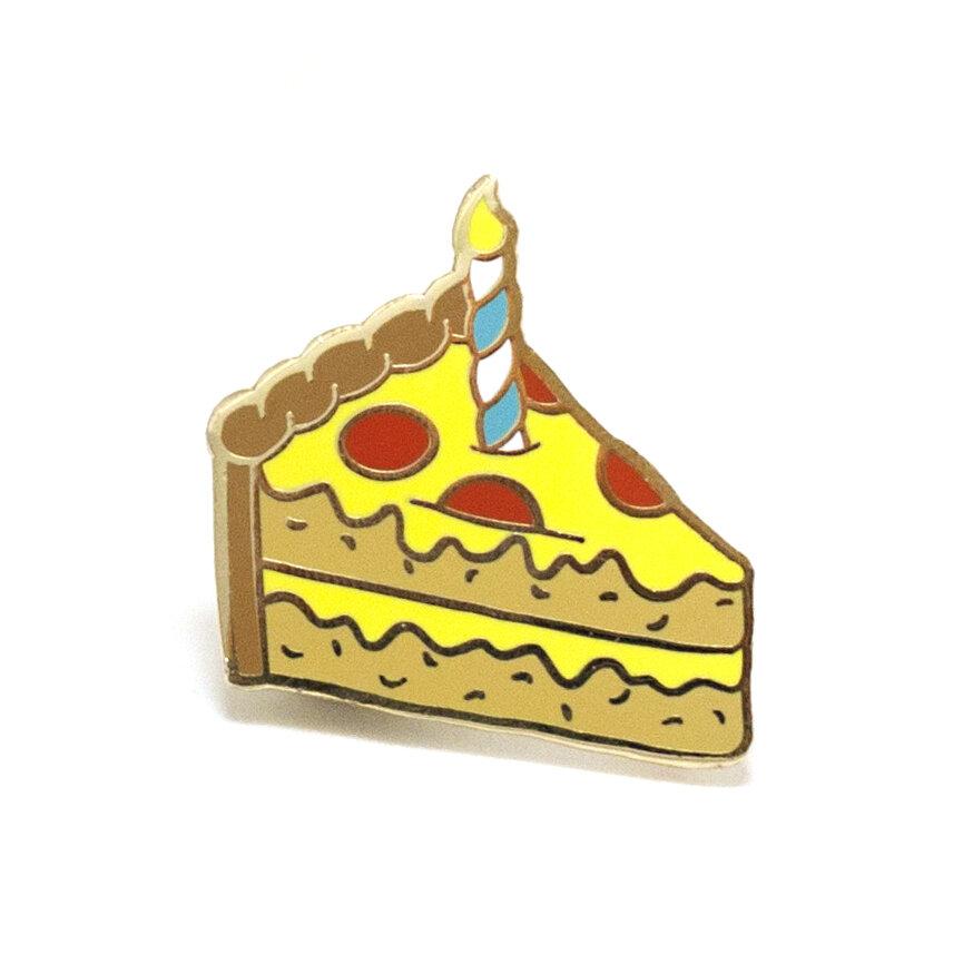 P15 - Pizza Cake Pin - Bright