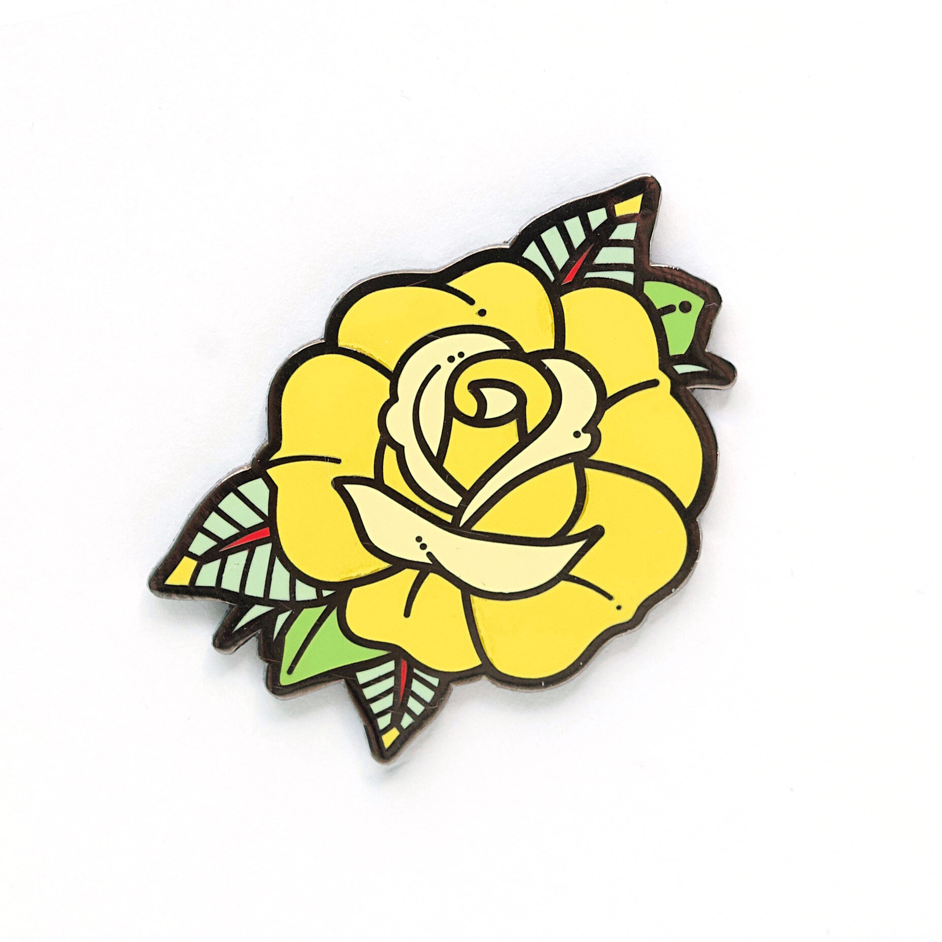 P36 - Rose Pin - Yellow
