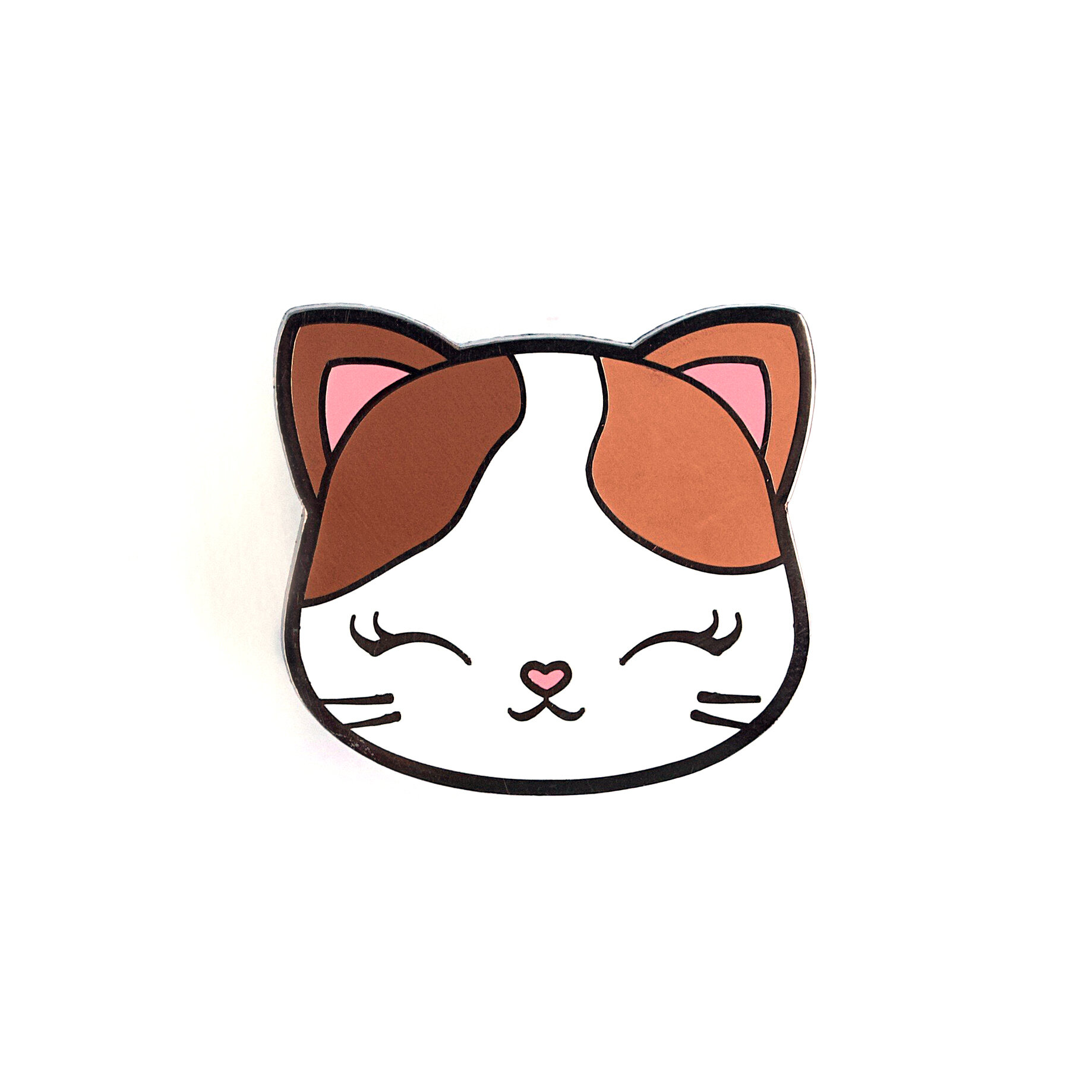 P38 - Kitty Face Pin