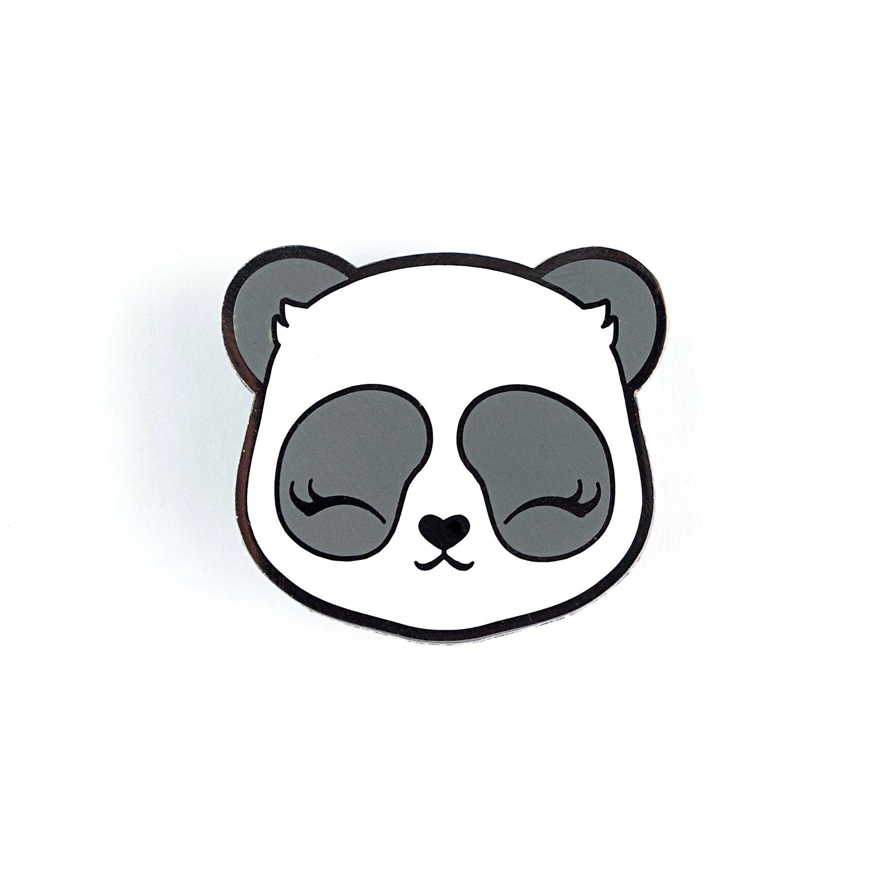 P39 - Panda Face Pin
