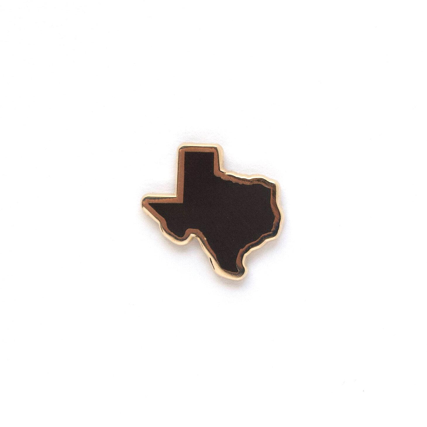 "P46 - Black Texas Pin - 1"""