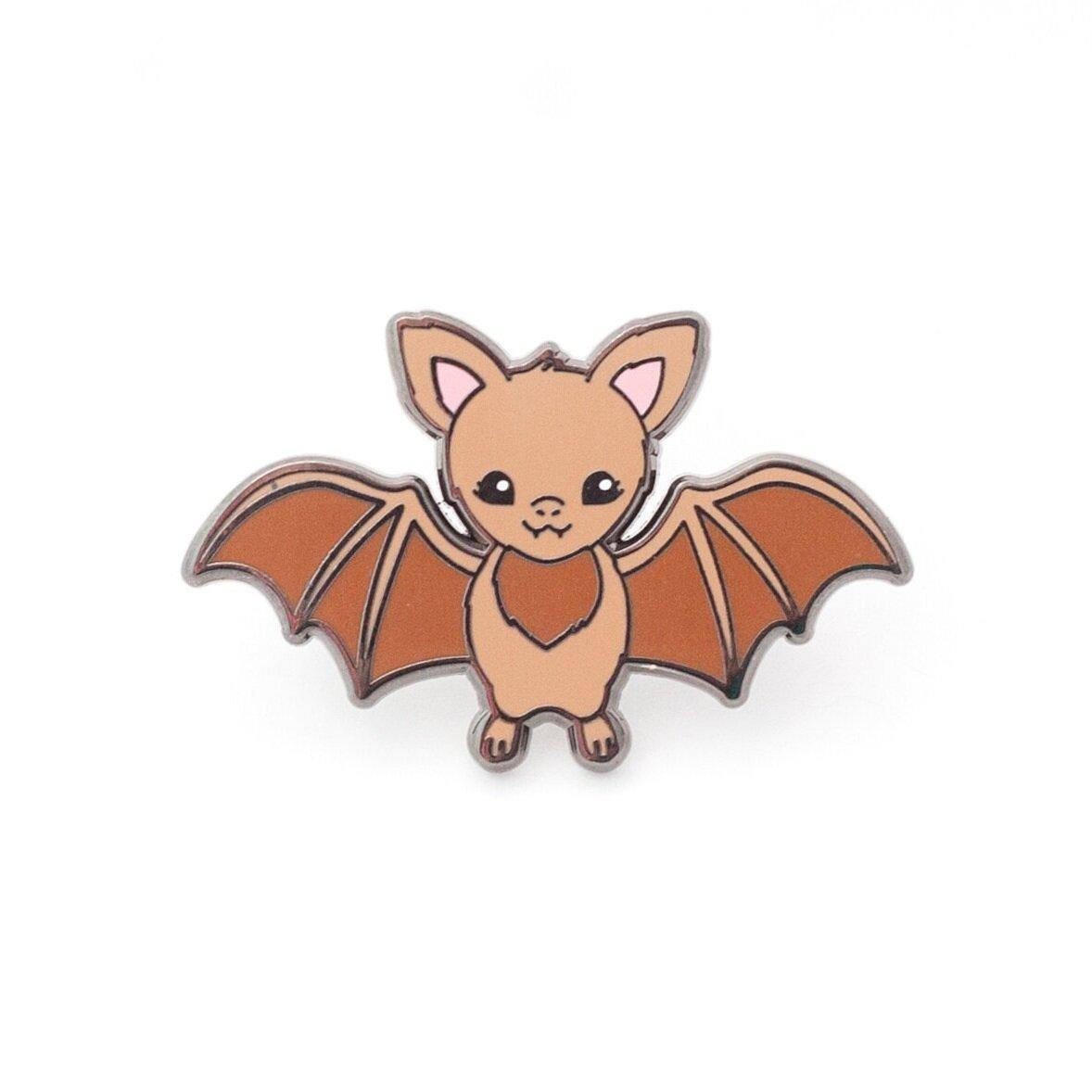 P24 - Bat Pin - Brown