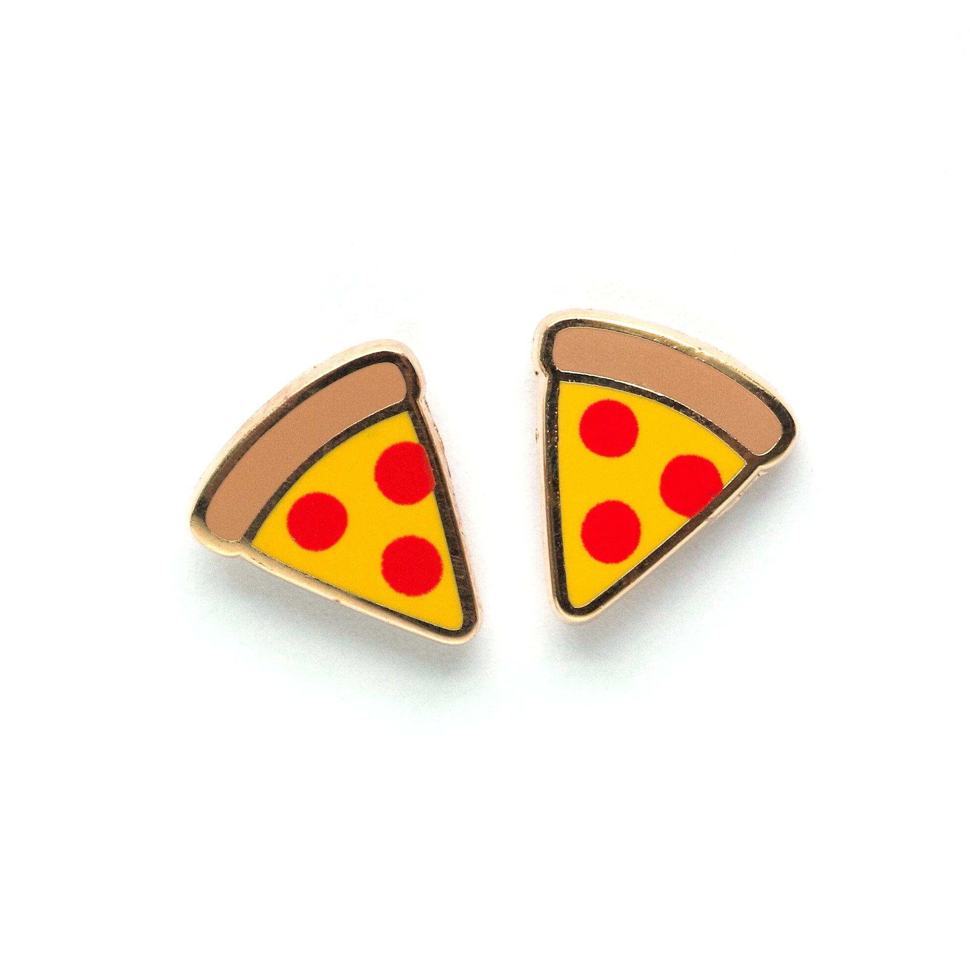 E16 - Pizza Slice Earrings
