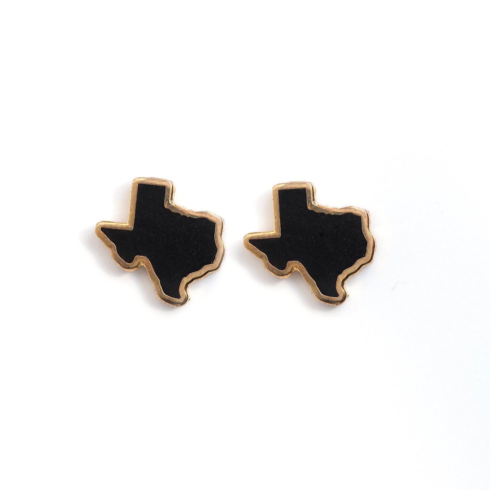 E5 - Black Texas Earrings