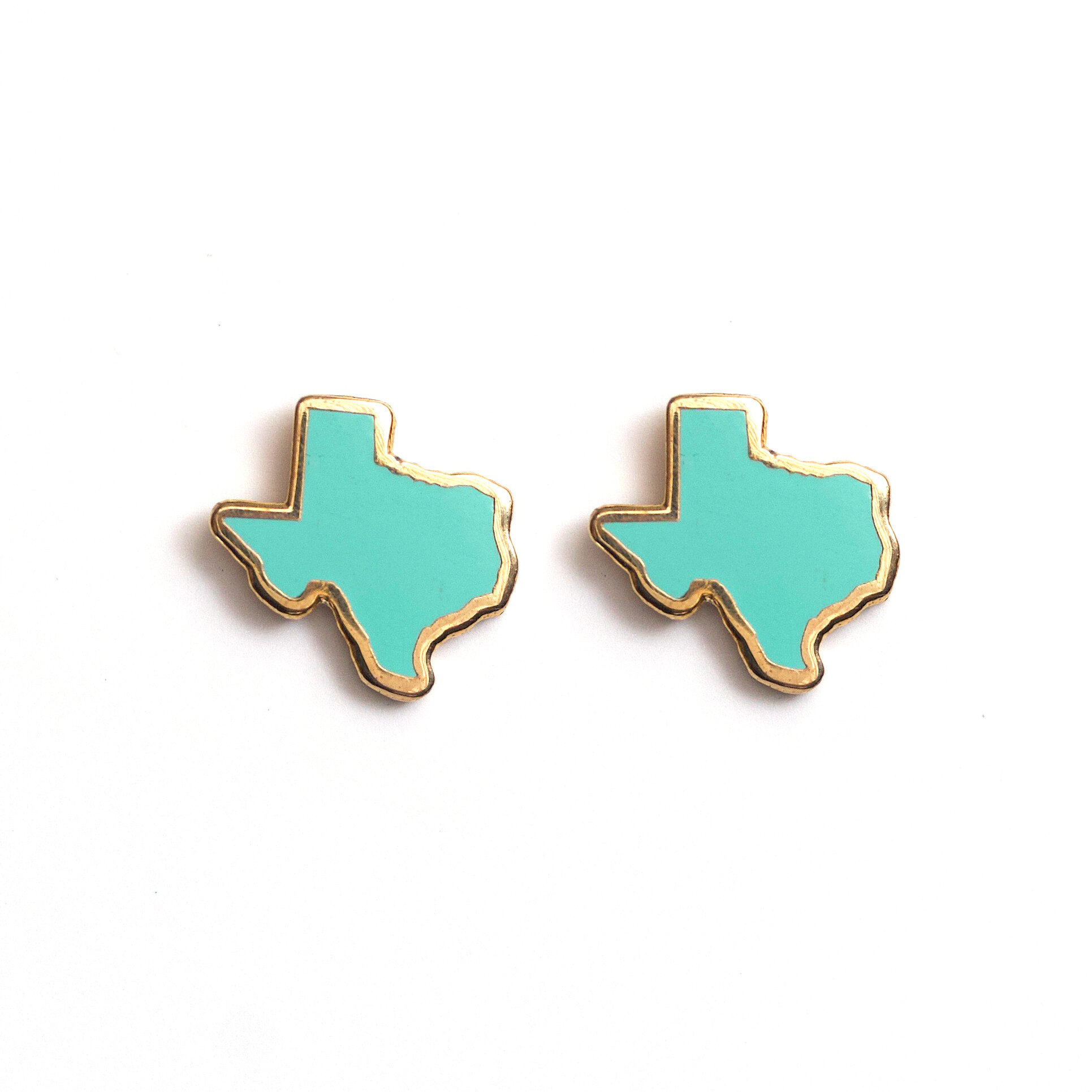 E6 - Teal Texas Earrings