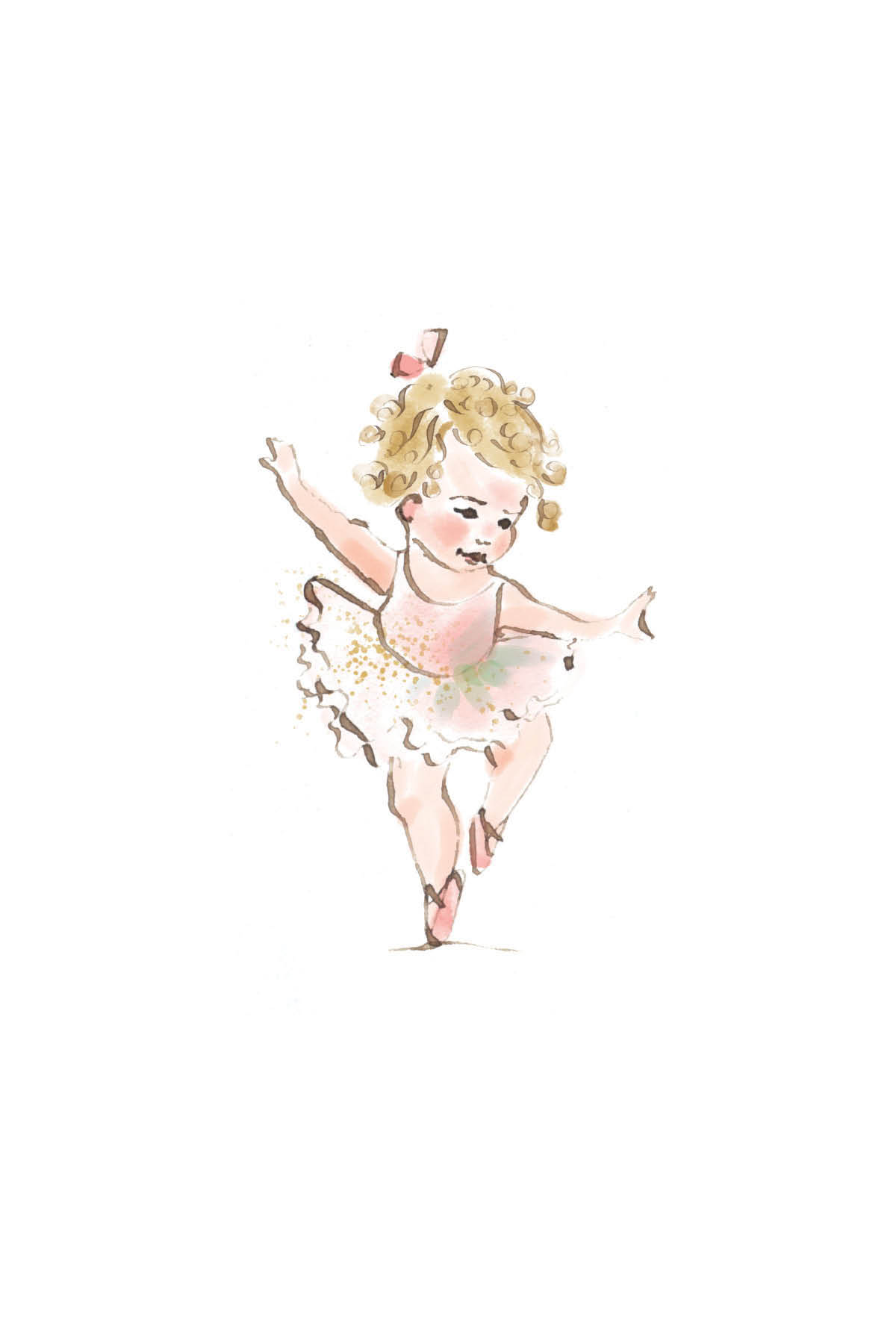 Tiny ballerina | curly blonde