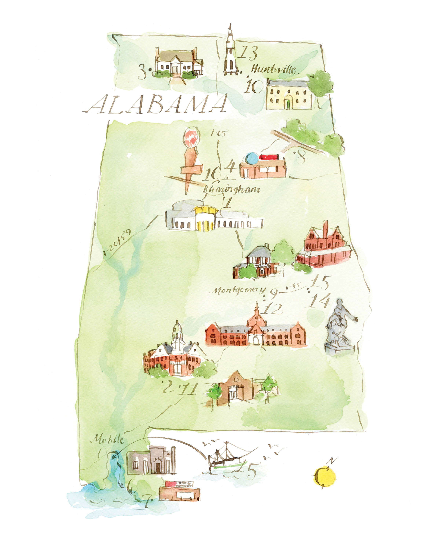 Literary Map of Alabama