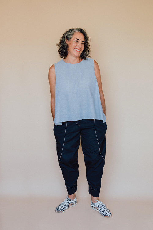 Darlow Pants pattern - View A