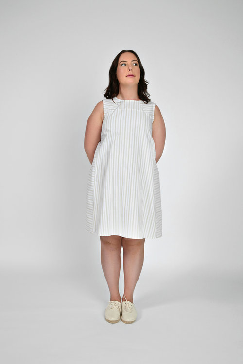 Rushcutter dress pattern-VIEW B