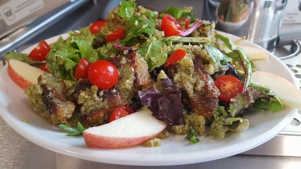Seitan chicken pesto salad.jpg