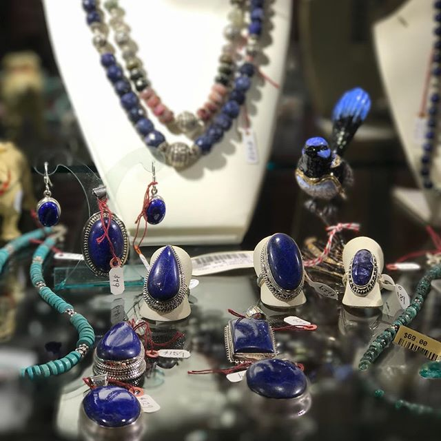 So much beautiful jewellery has now arrived in store after our travels to India. All 925 Sterling Silver with the highest quality natural gemstones. Featured here is a small selection of our stunning Lapis Lazuli range.
