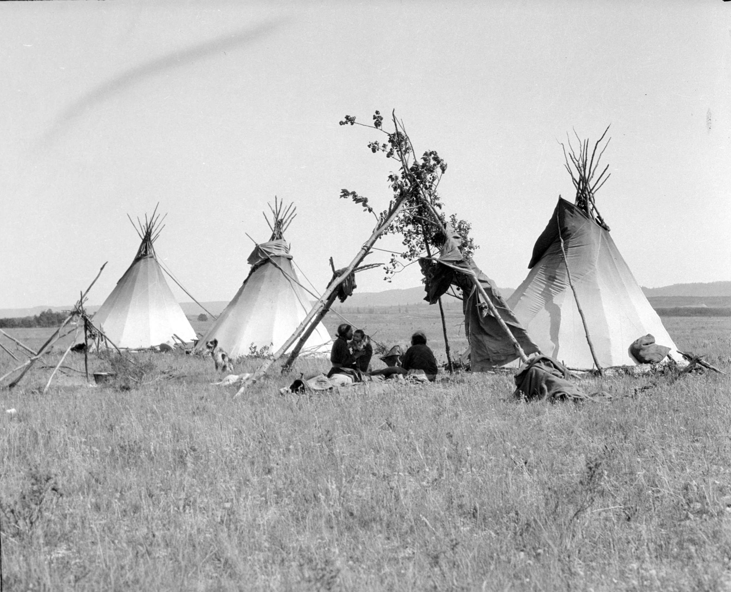 """""""Indian encampment"""" by Alfred Donald Coltman,retrieved from the City of Vancouver Archives."""