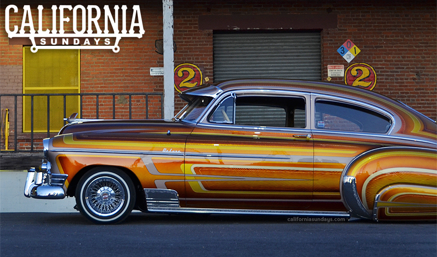 California Sundays showcases bombs, traditional low riders & more contemporary low riders, and motorcycles in the streets and at shows.