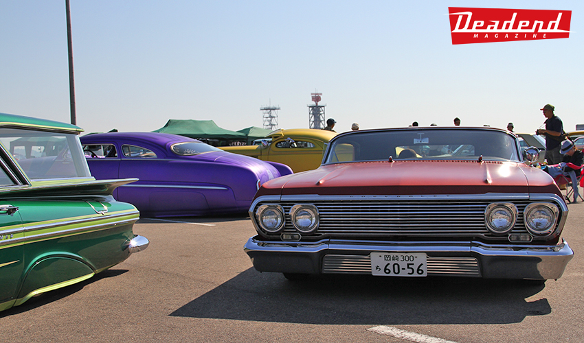 A heavily chopped '63 Impala with some colorful customs (Now this is what the Japanese have become known for)