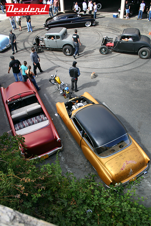 An overhead view of part of the show.