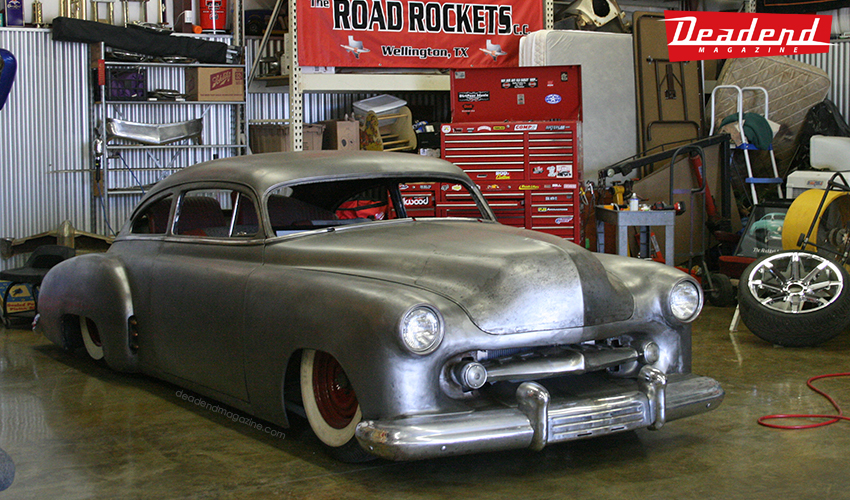 One of our first stops was to see the infamous Bass Custom built Chevy at Flat Top Bob's cousin's place at the time.